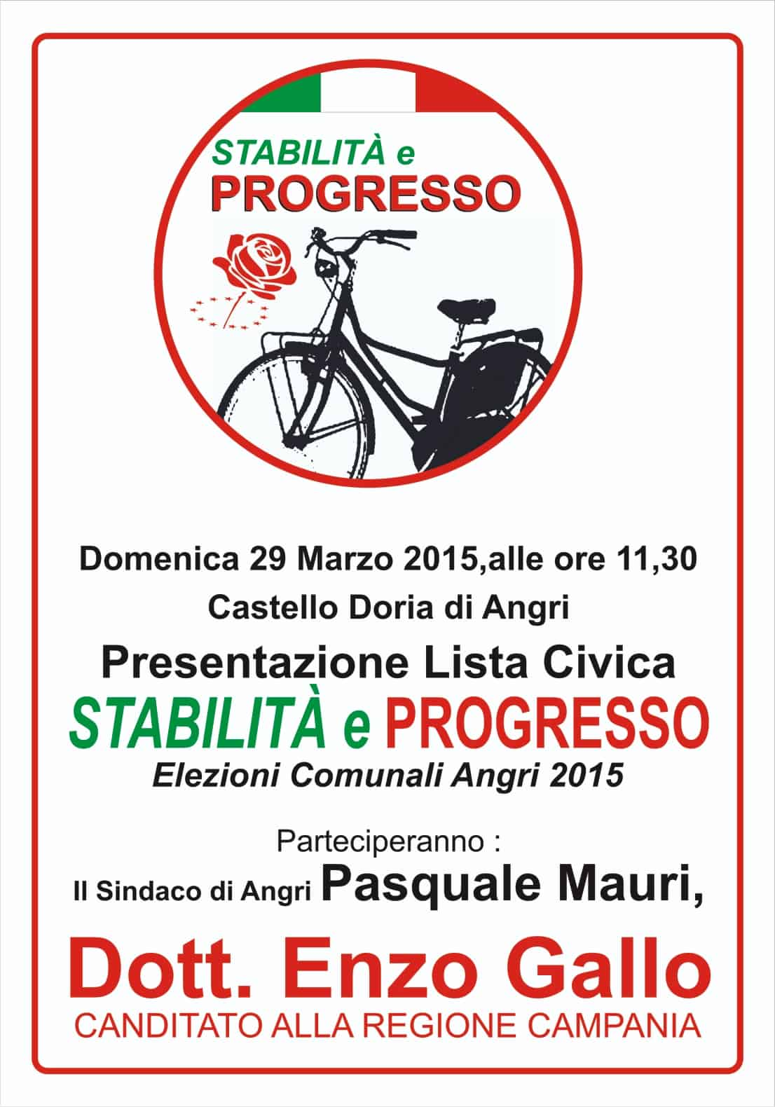 "Photo of Presentazione lista civica ""Stabilità e progresso"""