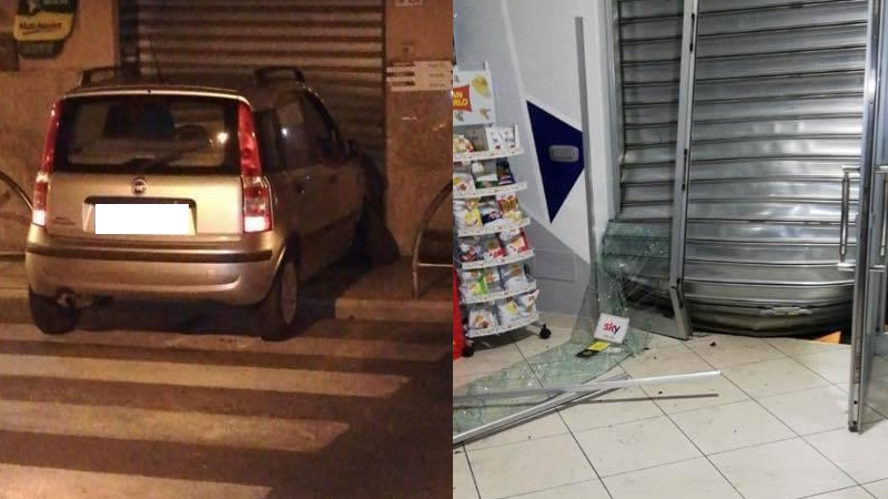 Photo of Auto si schianta contro saracinesca di un bar ad Omignano
